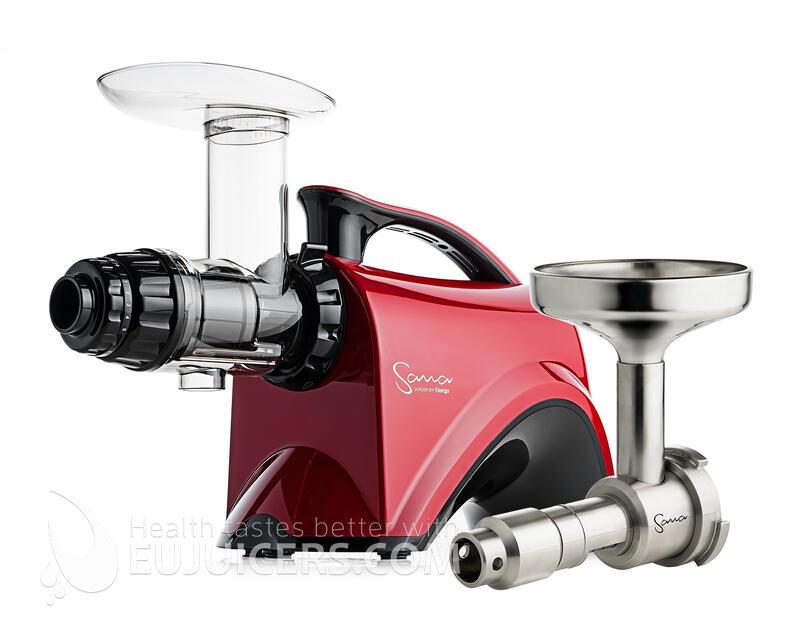 šnekový odšťavňovač Sana Juicer EUJ-606 Plus červená